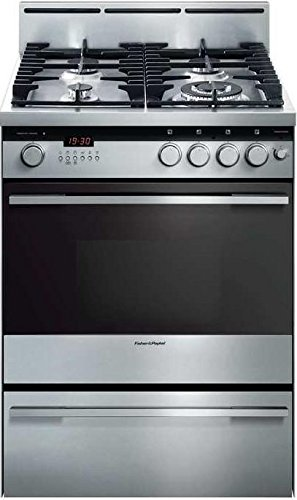 Fisher Paykel OR24SDMBGX2 24 Inch Freestanding Gas Range with 4 Burners, Sealed Cooktop, 1.9 cu. ft. Primary Oven Capacity, in Brushed Stainless Steel
