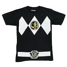 Mighty Morphin Power Rangers Black Ranger Costume Adult T-shirt
