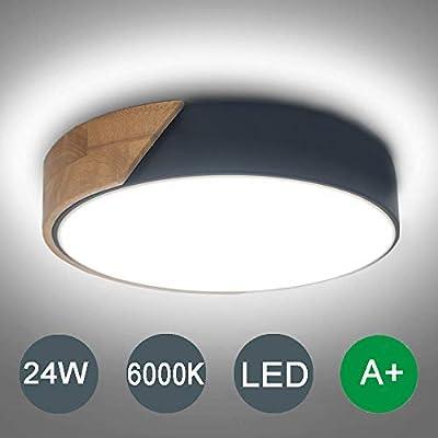 Kambo LED Lámpara de Techo Moderna Plafon Techo Led 24W Redondo ...