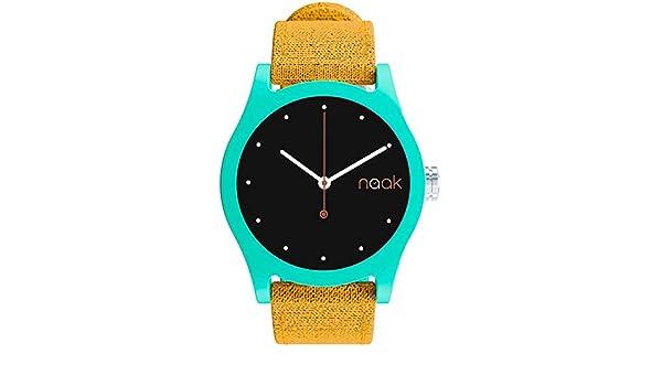 NAAK Reloj Analógico para Unisex Adultos de Cuarzo con Correa en Nailon 24-35: Amazon.es: Relojes