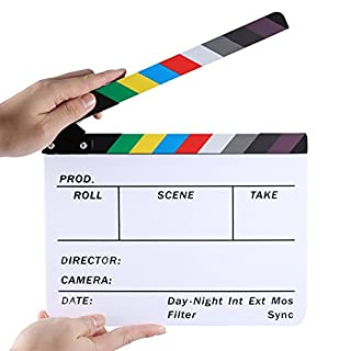 Neewer Acrylic Plastic 10x8/25x20cm Dry Erase Director's Film Clapboard Cut Action Scene Clapper Board Slate with Color Sticks (B00S4QRBZY) | Amazon price tracker / tracking, Amazon price history charts, Amazon price watches, Amazon price drop alerts