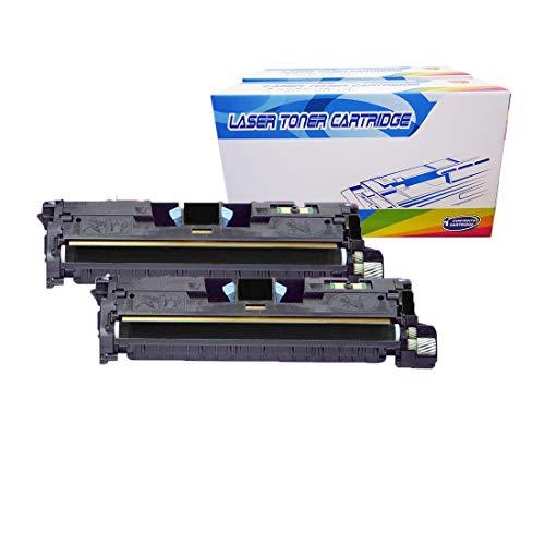 (Inktoneram Compatible Toner Cartridges Replacement for HP Q3960A 122A Color LaserJet 2550 2550L 2550Ln 2550n 2820 2830 2840 (Black, 2-Pack))