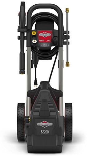 Briggs & Stratton Electric Pressure Washer 2200 PSI 1.2 GPM with 25' High-Pressure Hose, Turbo Nozzle & Detergent Foamer