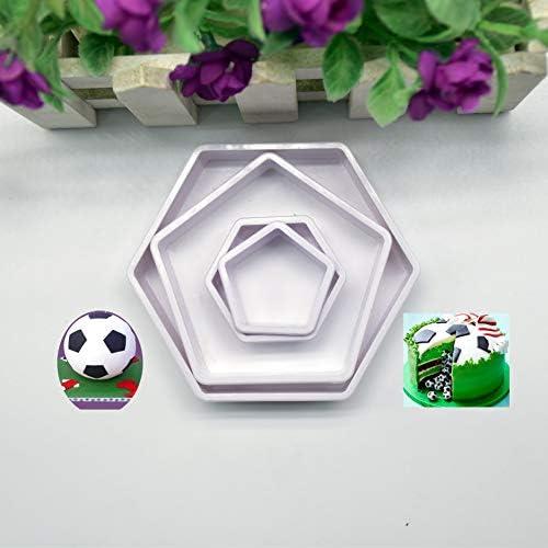 Compra Wanbor Fútbol 4 Piezas de futbolín cortadores de Galletas ...