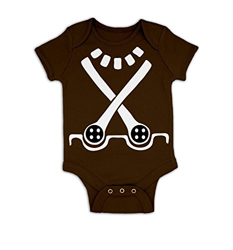 Oompa Loompa Halloween Costume Toddler (Candy Worker Costume Baby Grow - Chocolate 12 - 18 Months)