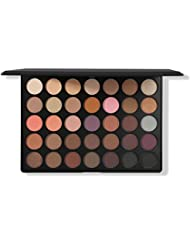Morphe Pro 35 Color Eyeshadow Palette Warm 35W - Professional matte powder makeup palette with intense pigment