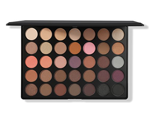 Morphe Pro 35 Color Eyeshadow Palette Warm 35W - Professional matte powder makeup palette with intense pigment (Best Morphe Palette For Brown Eyes)