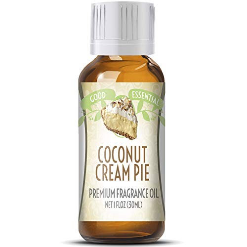 Coconut Cream Pie Scented Oil by Good Essential (Huge 1oz Bottle - Premium Grade Fragrance Oil) - Perfect for Aromatherapy, Soaps, Candles, Slime, Lotions, and More!