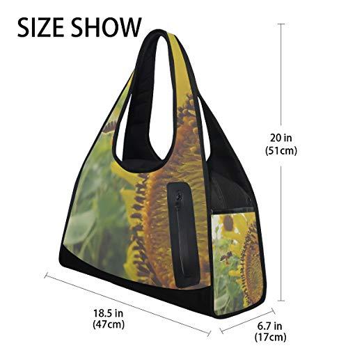 Sky Bags Sports 7 DEZIRO Sunflower Bag Blue for Gym AwtqFC
