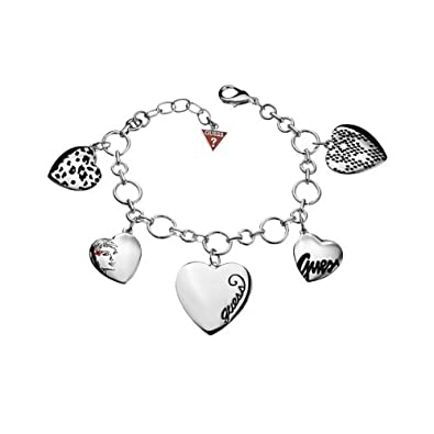 e0cb2ef8ca05 Guess - UBB81021 - Bracelet Femme - Acier - Argent - 18 cm  Amazon ...