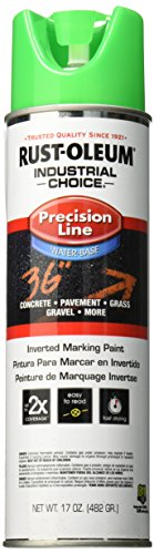 (Rust-Oleum Corporation 205176 Rust oleum M1800 System Precision Line Inverted Water Based Marking Spray Paint, Fluorescent, 17-Ounce,)