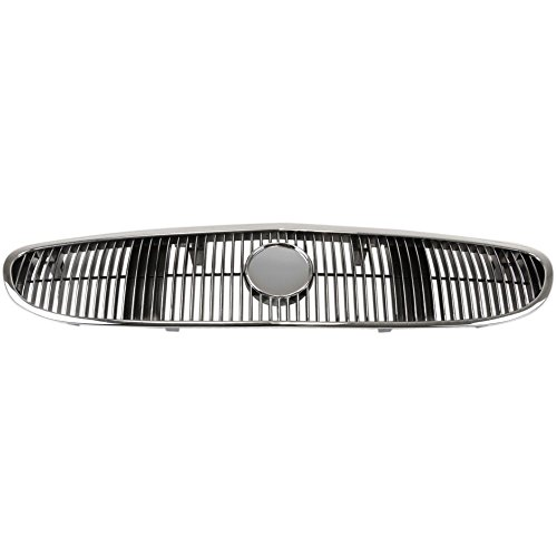 Grille for Buick Century 97-02 Plastic Chrome Shell/Painted-Black Insert