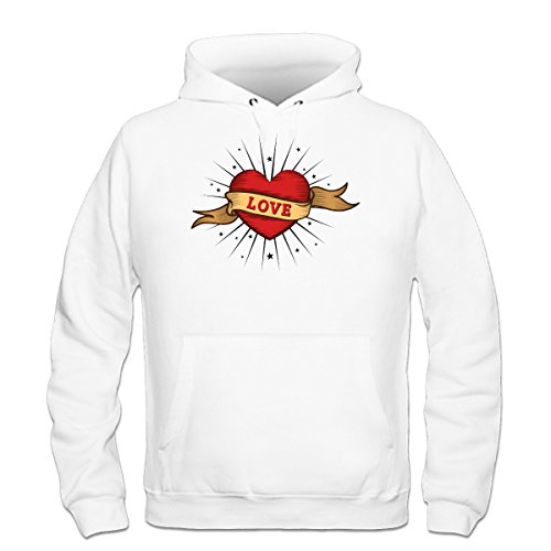 Shirtcity Love Old School Tattoo Hoodie XXL White