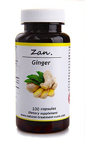 Hekma Center Pure Ginger Root - Zingiber Officinalis - 100 Capsules Reduces Nausea and Strengthens Immunity - Vegan