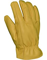 Azusa Safety DS-001 Deer Saver Work Gloves, Synthetic Vegan Leather, White, X-Large (1 Pair)