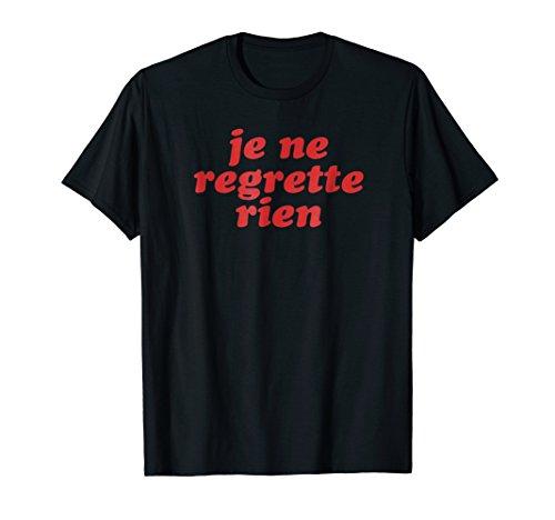 Retro 70s Je Ne Regrette Rien T-Shirt | French Speaker Gift