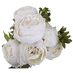 LNHOMY Artificial Silk Peony Flowers Fake Vintage Bouquets Artificial Plants for Wedding Home Decoration 10