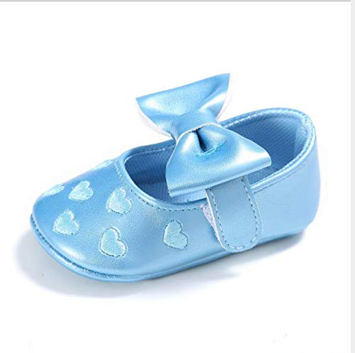 KINGDUO Chaussures Bébé Printemps Et Automne 0-1 Bébé Chaussures Soft Sole Multicolore Princess Amour Petit Bambin Shoes-Abricot 11