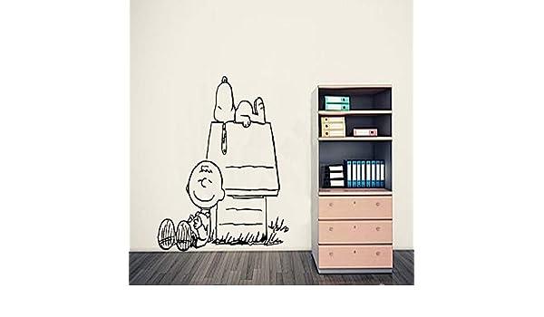 zhuziji Charlie Brown & Peanut Wall Art Sticker, Tatuajes de Pared ...