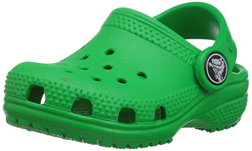 (Crocs Kids' Classic Clog, Grass Green, 10 M US Toddler)