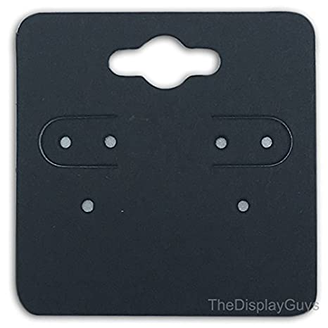 The Display Guys Pack of 500 pcs 1 7//8 X 4 3//4 inch Matte Black Fold Over Paper Necklace Earrings Display Hanging Cards for Jewelry Accessory Display 48mm x 123mm