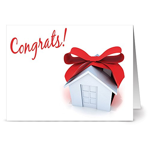 24 Note Cards - Congrats on Your New Home - Blank Cards - Kraft Envelopes Included (A New Home For The Holidays Card)
