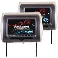 Farenheit HRD-72CCP Universal Headrest Package w/ DVD Player & 7inch LCD Screen
