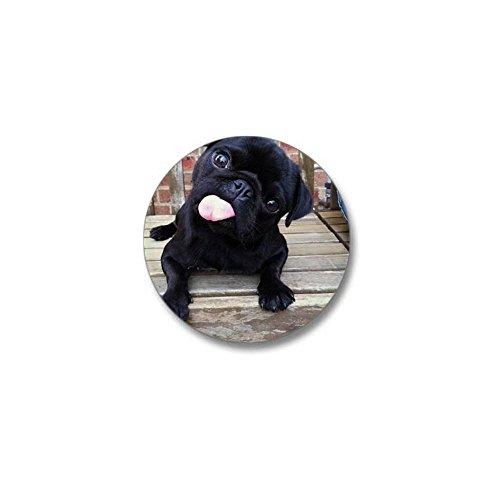 - CafePress Black Pug Mini Button 1