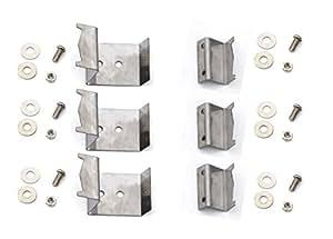 Char-Griller 5050Duo, Char-Griller 3001, Chargriller 3001, mango flexible 5050Duo (Juego de 6) quemador de calor escudos y soportes
