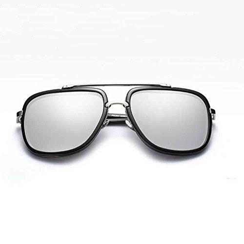 Metal Mercury Color Hombres de Silver Conducción Black de Black mercury Moda de Sol Gafas Unisex Sunny Gafas de Personalidad de Honey polarizadas los silver pwqpZTRn