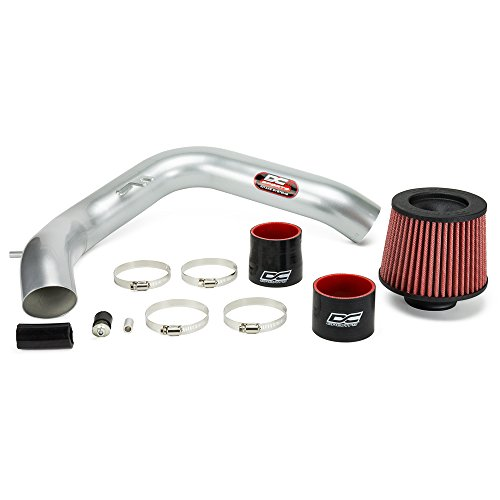 (DC Sports CAI6016 CARB Compliant for 2004-07 Acura TSX Performance Cold Air Intake System Bolt-On Kit in Powder Coat Silver - Fits 2004-08 Models )