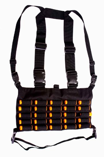 ultimate arms gear tactical shotgun package holds 49 shells includes  stealth black chest rig 25