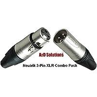 Neutrik XLR 3-Pin Combo Pack - 5 Male / 5 Female Connectors
