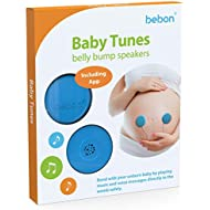 Baby-Bump Headphones – Plays and Shares Music, Sound and Voices to The Womb – Premium Baby Bump Speaker System – Including bebon Tunes APP (iOS and Android) (Blue)