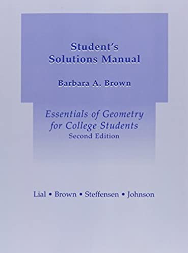 amazon com student solutions manual for essentials of geometry for rh amazon com Geometry Textbook Answers college geometry solutions manual pdf