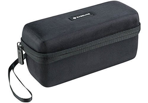 (Hard Case Fits SHARKK Bluetooth 4.0 Boombox NFC Speaker, 10 Watt Portable Speaker System Travel Bag. Mesh Pocket for USB/Cables. – by Caseling)