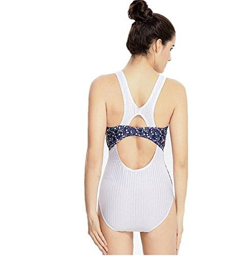 Outdoor Donne white sexy Swimwear competitivo professionista Costume intero Beach Formato Sport l di modo Bikini YONGYI nYx6qU8F