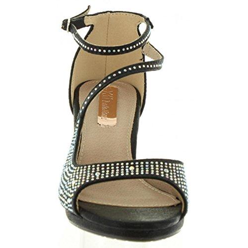 Sandalias de Mujer XTI 30572 METALIZADO NEGRO