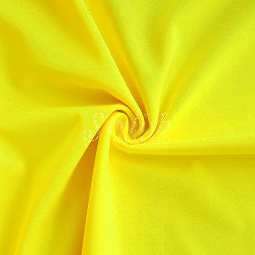 Yellow Neon Matte Tricot Knit Fabric for Swimwear Activewear Sportswear -1 Yard