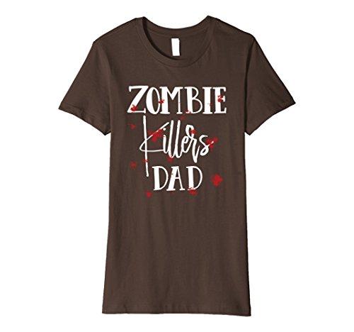 Womens Halloween Costume Zombie Killers Dad Bloody T-Shirt Small (Womens Zombie Killer Costume)