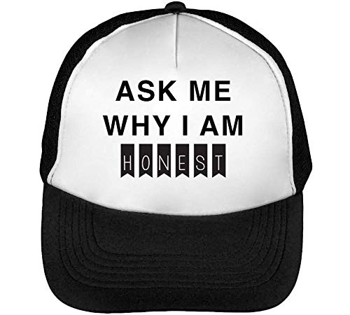 Slogan Negro Gorras I Snapback Hombre Funny Honest Ask Hipster Am Beisbol Blanco Why x4Pq50BY