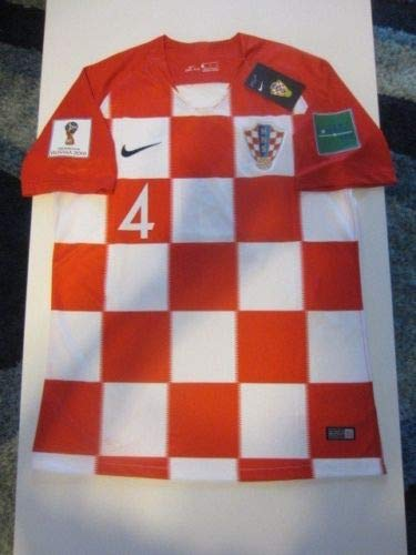 5aecbcccd Amazon.com   Dri-FIT Ivan PERISIC  4 Croatia HNS Hrvatska 2018 FIFA World  Cup X-Large Red and White Home Jersey Patches   Clothing