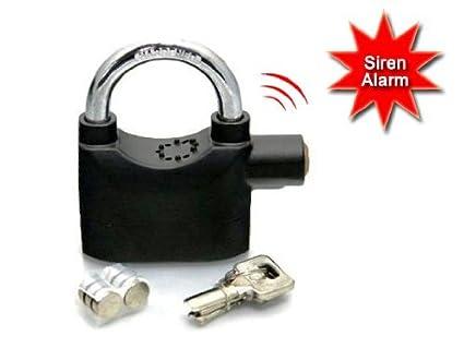 Okayji Anti Theft Burglar Pad Lock Alarm Security Siren- Random Colour