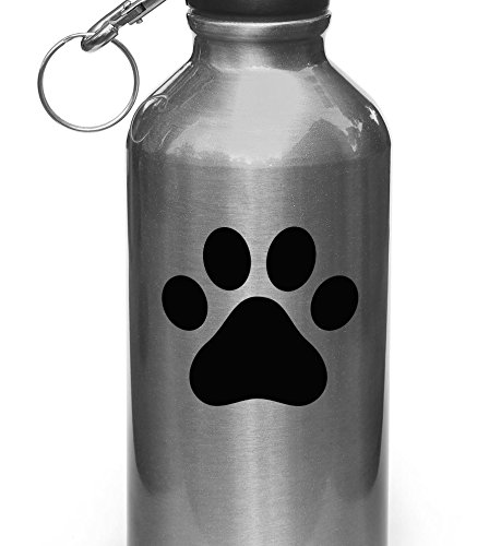 Dog Pawprint - Paw Print - Vinyl Water Bottle Decal Copyrigh