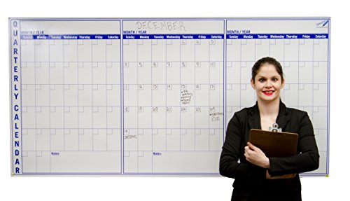 (Large Dry Erase Wall Calendar 3 Month - 36 x 72 inch Big Calendar for Wall - Quarterly Office Wall Calendars)
