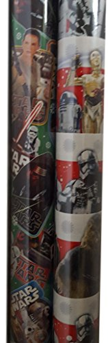 Star Wars Force Awakens Gift Wrapping Paper 2 Assorted Rolls -
