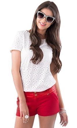 super popular special section wide range HIDDENFASHION - Mini Short Femme Faux Cuir Rouge PU Effet ...