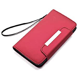 Samsung Galaxy S5 Accessories - Protective Leather Case Cover for Samsung Galaxy S5 - Hot Red