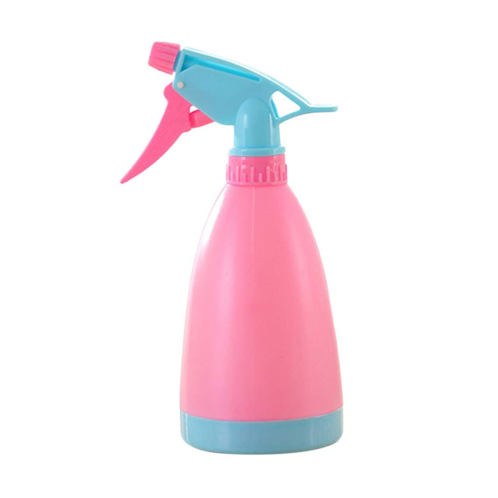 Portable Water Spray Bottle for Plants Plastic Handheld Spray with Pump Trigger Mist Spray Water Bottle Hairdressing Spray Bottle for Plants Salon (Pink)