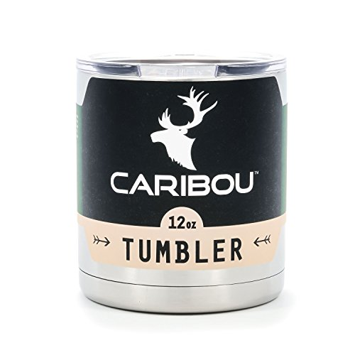 Camco 51860 12 oz Caribou Stainless Steel Tumbler with Lid